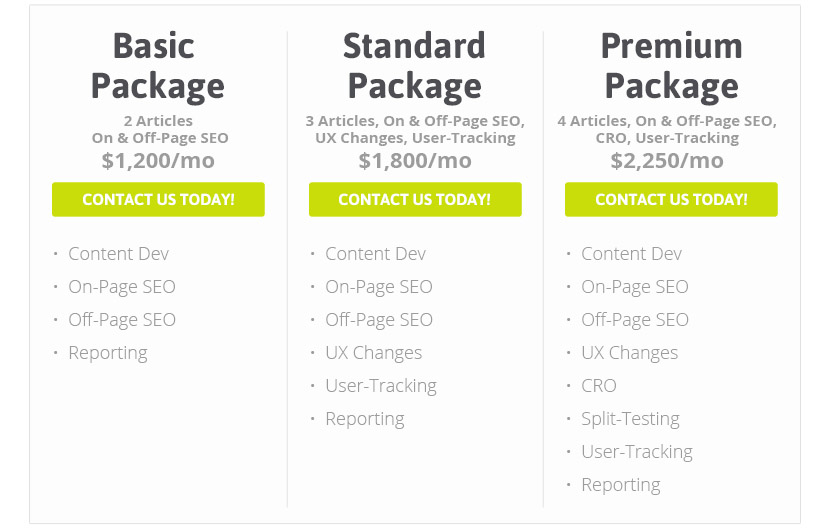 SEO, CRO and Digital Marketing Packages
