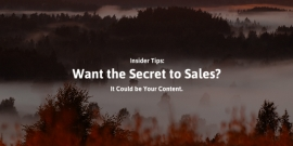 Want the Secret to Sales? It Could Be Your Content